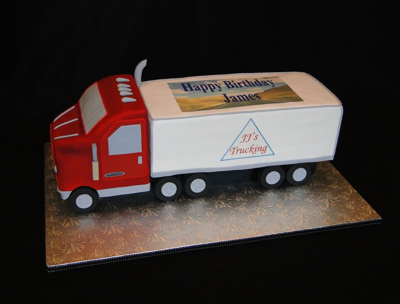 Cake Designs Truck : Semi truck cake - Cakes By Elisa
